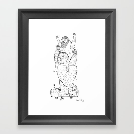 On a cause which contributed to the expulsion of the Lithuanian bear Framed Art Print