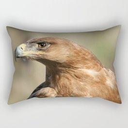 Tawny Eagle Profile Rectangular Pillow