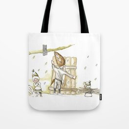 Winter - Inspiration of Elsa Beskow Tote Bag