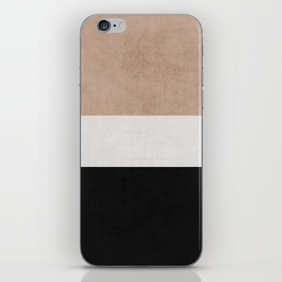 classic - natural, cream and black iPhone & iPod Skin