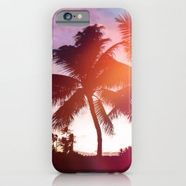 Aloha palms iPhone Case