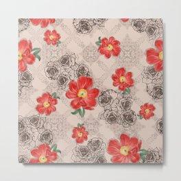 flowers art seamless pattern Metal Print