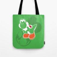 yoshi Tote Bags featuring Yoshi by Amanda Blauser