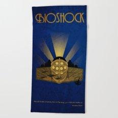 Bioshock rapture illustration Beach Towel