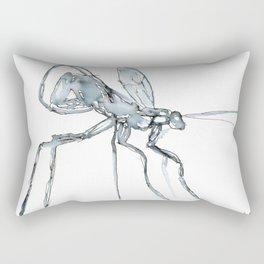 Mosquito, Watercolor Rectangular Pillow