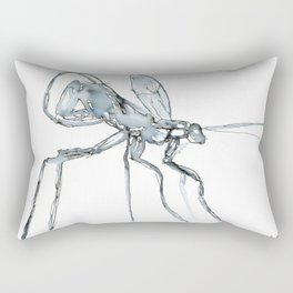 Mosquito, Watercolor Rectangular Pillow