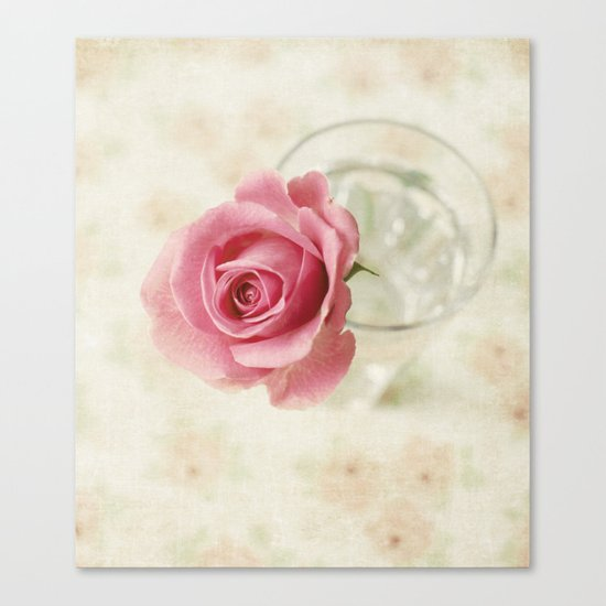 Vintage Textured Rose  Canvas Print
