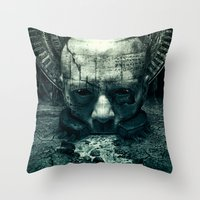 prometheus Throw Pillows featuring Prometheus by dracorubio