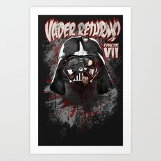 When there's no more room in Hell....Vader. Art Print