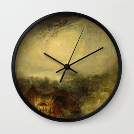 """J.M.W. Turner """"The Evening of the Deluge"""" Wall Clock"""