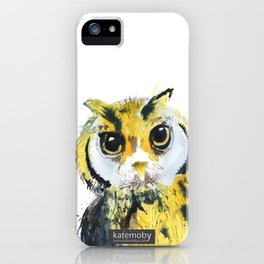 Inky Owl iPhone Case