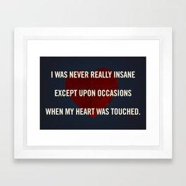 Insane Love Framed Art Print
