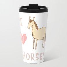 I ❤ Horses Travel Mug