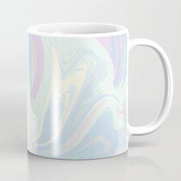 Blue Mint Marble. Digital Suminagashi Liquid Color Abstraction Coffee Mug