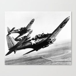 Vintage fighters Canvas Print