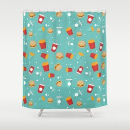 Burgers pattern Shower Curtain