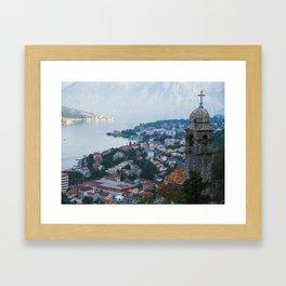 Over Kotor, Montenegro Framed Art Print