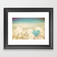 cloud heart Framed Art Print