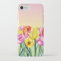 tulips iPhone & iPod Cases featuring Tulips by Julia Badeeva