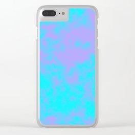 Cotton Candy Clouds - Purple & Blue Clear iPhone Case
