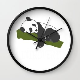 Funny Leave Me Alone I'm Introverting Wall Clock