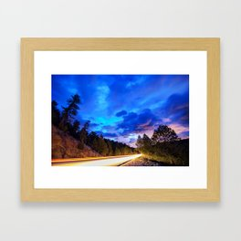 Colorado Highway 7 To Heaven Framed Art Print