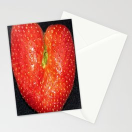Strawberry of Heart Stationery Cards