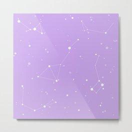 Pastel Purple Nigh Sky Metal Print