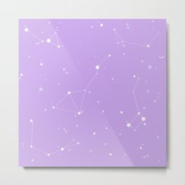 Pastel Purple Night Sky Metal Print