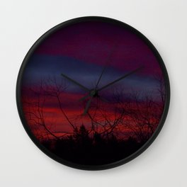 Red Sky in The Morning Wall Clock
