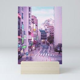 Pink City Pop Aesthetic Tokyo Japan Poster Mini Art Print