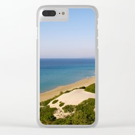 Golden Beach in Cyprus Clear iPhone Case