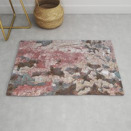 Cracking Paint and Rust Abstract Rug