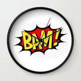 Bam! Kapow! Boom! Wall Clock