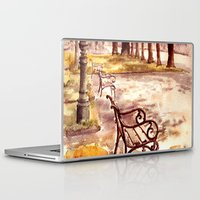 vienna Laptop & iPad Skins featuring Ringstrasse in Vienna by Vargamari