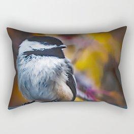 Fall Chickadee Rectangular Pillow