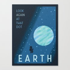 EARTH Space Tourism Travel Poster Canvas Print