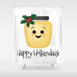 Happy Hollandaise Shower Curtain