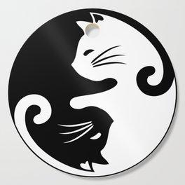 Yin yang cats Cutting Board