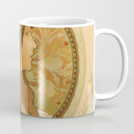 "Alphonse Mucha ""Byzantine Head: The Brunette"" Coffee Mug"