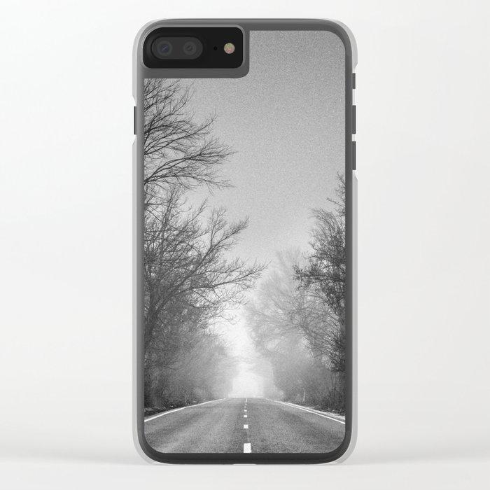 """Follow your dreams ...."" Monochrome Clear iPhone Case"