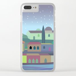 Bordeaux Night Clear iPhone Case