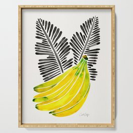 Banana Bunch – Yellow & Black Palette Serving Tray