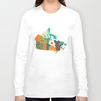 canada Long Sleeve T-shirts featuring Canada by Mohit Gupta