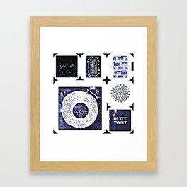 Variety of feelings Framed Art Print