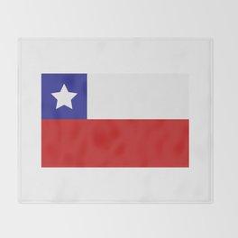 Chile flag Throw Blanket