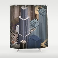 metropolis Shower Curtains featuring Metropolis by Soak