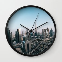 Dubai 32 Wall Clock