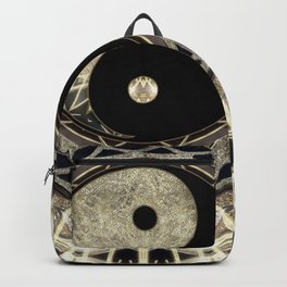 Yin Yang Geometry Mandala V1 Backpack