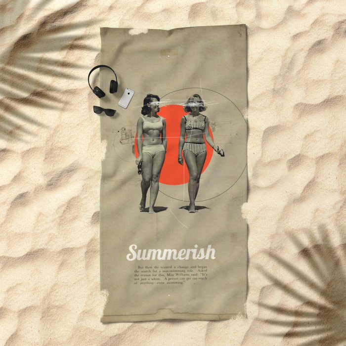 Summerish Beach Towel